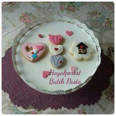 Itır&Yiğit#wedding#cookies#I#love#you#başharfleri#çok#anlamlı