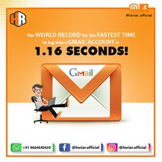 Fastest Time to Load Gmail Account...!!!  Follow Us @hsriar.official  Contact Us Email: hsriar.work@gmail.com Whatsapp: +91 9664640420  #gmail #gmaillogintime #hsriar #marketing #socialposts #hsriaroffical #graphicdesigner #websitedeveloper #instagram #vadodara #website #designer #digitalmarketing #socailmediamarketing #brand #worldrecord #record Social Media Marketing, Digital Marketing, Socail Media, Fast Times, Thing 1, World Records, Accounting, Website, Instagram