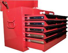 TNT-ProTools Werkzeugkoffer, Werkzeugbox, Werkzeugkiste, Angelkoffer, Werkzeugkasten 9 Schubladen, rot, 12010065: Amazon.de: Baumarkt