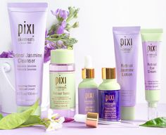 We're so excited to introduce our NEW Retinol & Jasmine Collection! Created with time-release Retinol & anti-inflammatory Jasmine, these… Pixi Beauty, Beauty Tips, Beauty Products, Beauty Hacks, Lotion, Retinol Eye Cream, Jasmine Oil, Drugstore Skincare, Skincare Routine