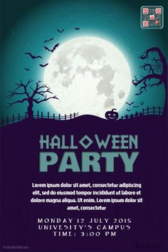 71 best halloween party flyer templates images on pinterest