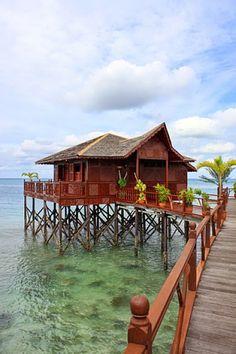 Wasservilla auf Pulau Sipadan #Malaysia