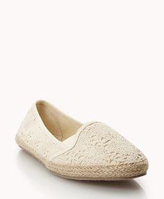 Crocheted Espadrille Slip-Ons | FOREVER21 - 2036011326