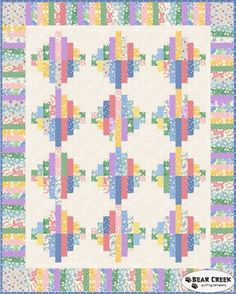 Walk In The Park - Keys To My Heart (Pastel) Free Quilt Pattern by Maywood Studio