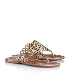 121563af9bf5 Davy Metallic Flat Thong Sandal