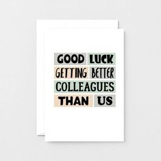 Your place to buy and sell all things handmade Me Quotes, Qoutes, Funny Quotes, Farewell Coworker, New Job Card, Leaving Cards, Ill Miss You, Funny New, Good Luck