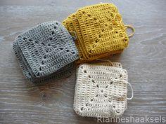 Granny square pattern in Dutch by Rianneshaaksels Granny square pattern in Dutc. Granny square pattern in Dutch by Rianneshaaksels Granny square pattern in Dutch by Rianneshaaksel Crochet Afghans, Diy Crochet And Knitting, Crochet Motifs, Crochet Blanket Patterns, Love Crochet, Crochet Stitches, Knitting Patterns, Crochet Hats, Point Granny Au Crochet