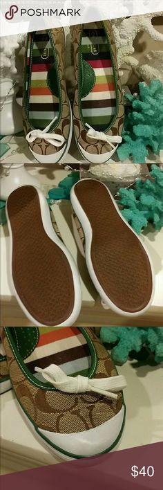 Authentic Coach shoes Hardly worn Coach shoes. Siize 7.5. In extremely good condition. Coach Shoes Flats & Loafers