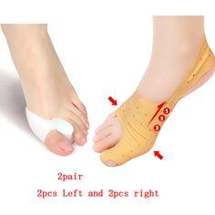 4pcs silicone toe separator hallux valgus ingrown nail bunion corrector pedicure cuidado de los pies alluce valgo foot care tool