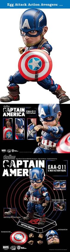 Egg Attack Action Avengers: Age of Ultron Captain America non-scale ABS & PVC painted action figure. It's shipped off from Japan.
