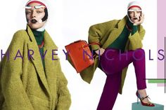 Harvey Nichols Campaign with paper makeup Paper Makeup, Lisa Eldridge, Fashion Now, Harvey Nichols, Color Combinations, Color Mixing, Supermodels, Cool Photos, Fashion Photography