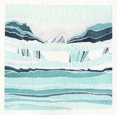 This item is unavailable Watercolor Paintings Abstract, Original Paintings, Glacier Bay National Park, Cityscapes, Color Themes, Abstract Landscape, Surrealism, Alaska, Landscapes