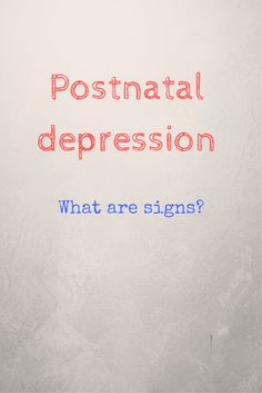 Postnatal depression affects thousands of women every year.  Learn more about the symptoms and what can be done to help.