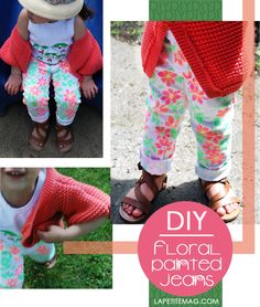 DIY floral pants