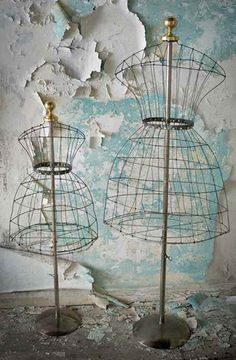Vintage wire dress forms