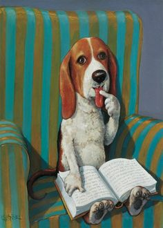 """This reminds me of a Groucho Marx quote I love-- """"Outside of a dog, a book is man's best friend. Inside of a dog, it's too dark to read."""""""