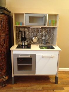 Ikea Play Kitchen. Sadie's country kitchen is finished!