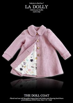 LA DOLLY 'the DOLL COAT' made in Italy - pink