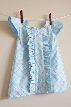 Girl's Ruffle Dress from Pillowcase | FaveCrafts.com