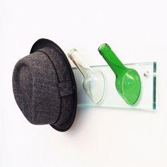 upcycled wine bottle neck hat hanger home decoration