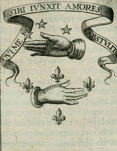 """Qui me sibi junxit amores abstulit"" from ""Devises royales"" – Adrian d'Amboise Tumblr Tattoo, Tarot, Retro Kunst, Esoteric Art, Tatuagem Old School, Arte Obscura, Occult Art, Vintage Drawing, Art Graphique"
