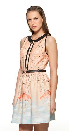 Só na Antix Store você encontra Vestido Céu de Flamingos com exclusividade na internet