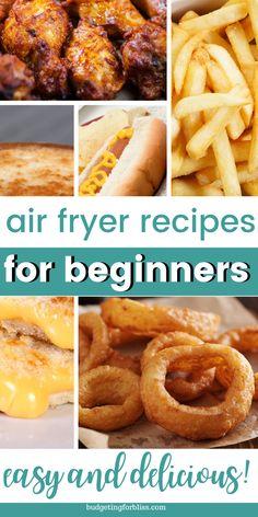 Air Fryer Oven Recipes, Air Frier Recipes, Air Fryer Dinner Recipes, Nuwave Air Fryer, Easy Cooking, Cooking Recipes, Cooks Air Fryer, Air Fried Food, Air Fryer Healthy