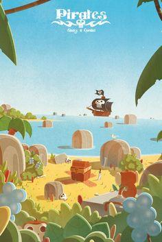 """Poster de """"Pirates – Journal d'un héros – Livre 1"""", au format 40×60"""