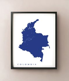 Colombia Map by CartoCreative on Etsy