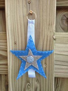 Luiertashanger ster blauw