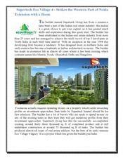 Supertech Eco Village 4 | 2/BHK Flats in Noida Extension