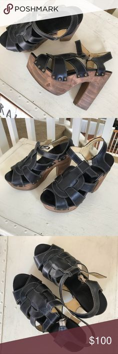 Bed Stu wood platforms Great condition worn once Bed Stu Shoes Platforms