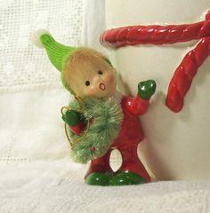 Vintage Napco Christmas Elf / Pixie Planter