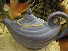 Hall Aladdin Blue Teapot by GuardianAngels on Etsy, $52.95