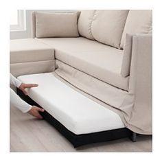 IKEA - SANDBACKEN, Kulmavuodesohva, Lofallet beige, , Kimmoisan vaahtomuovin ja jousitetun istumen ansiosta istuminen on mukavaa.Sohva on helppo ja nopea muuntaa tilavaksi sängyksi.Rahi toimii ylimääräisenä istuimena tai mukavana jatkona sohvalle.Voit kiinnittää rahin oikealle tai vasemmalle puolelle tai irrottaa sen kokonaan sohvasta ja käyttää sellaisenaan.Rahin istuinosan alta löytyy säilytystilaa esimerkiksi huoville.Sohva on pakattu tilaa säästävällä tavalla, minkä ansiosta se on helppo…