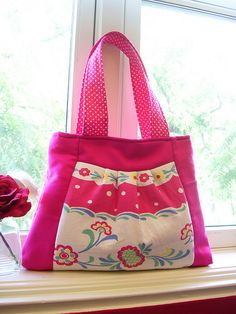 tablecloth panel purse