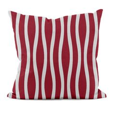 e by design Wavy Stripe Throw Pillow