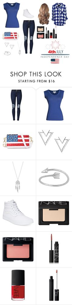 """4th of July Barbeque"" by ittybittyrsunshine ❤ liked on Polyvore featuring Velvet by Graham & Spencer, Chicnova Fashion, Nadri, Lucky Brand, Midsummer Star, Vans, NARS Cosmetics and Rails"