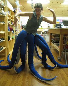 Finally!  That's how you blend your legs with the tentacles!