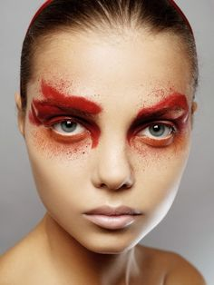red splatter makeup