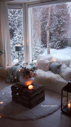 Home Interior Design, Interior And Exterior, Living Room Decor, Bedroom Decor, Cozy Room, Dream Rooms, Cozy House, My Dream Home, Home And Living
