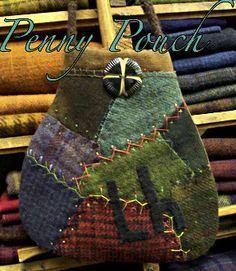 Penny Pouch - Primitive Pieces by Lynda