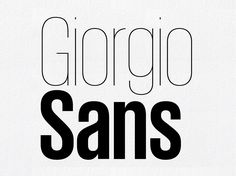 Giorgio Sans is Latin, Greek and Cyrillic commercial font. The extreme x-height helps to differentiate Giorgio Sans from other straight-sided sans serifs.