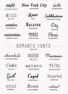 25 Free Romantic Fonts