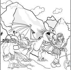 How To Train Your Dragon Coloring Pages 17