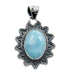 Incredible Sterling Silver Natural Dominican Larimar Pendant  Price : $54.95 http://www.silverplazajewelry.com/Incredible-Sterling-Silver-Natural-Dominican/dp/B00KIRBHZC