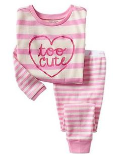 Cute stripe sleep set / GAP