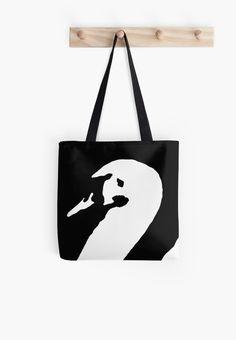 Unique Presents, Unique Gifts, Swan, Reusable Tote Bags, Design, Unique, Bags, Swans