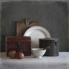 Tineke Stoffels - Still Life With Red Tin Drum, processing by Tineke Stoffels