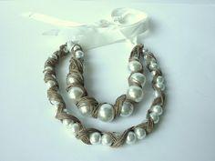 Cubierta de lino - ropa de collar de perlas